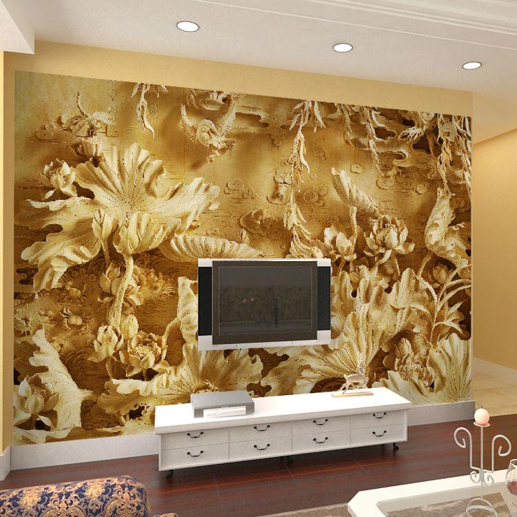 seamless 3D TV background wall mural wallpaper wallpaper Chinese ...