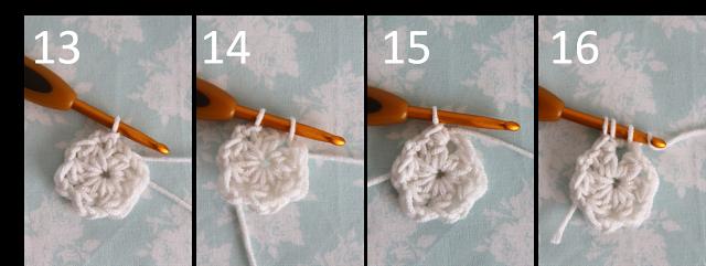 creJJtion: Crochet hexagon tutorial 13-16