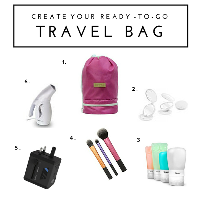Save time, money and room in your suitcase by creating your ready-to-go travel bag for your next travel adventure! Packing videos, pro tips and more right here to make your next trip smooth and easy! #traveltips #packingtips #traveling #beauty