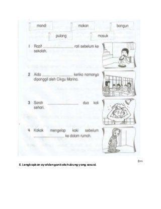 Soalan Ujian Bm Kali Pertama Tahun 2 Kssr Kali Malay Language Image