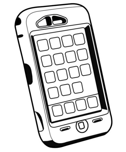 Cell Phones Coloring Pages Add numbers in boxes for number