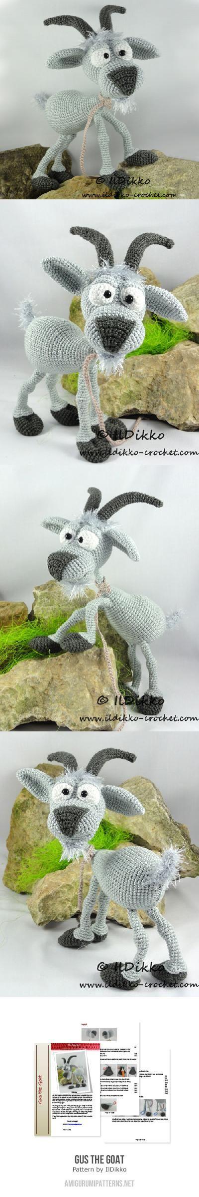 Gus The Goat Amigurumi Pattern