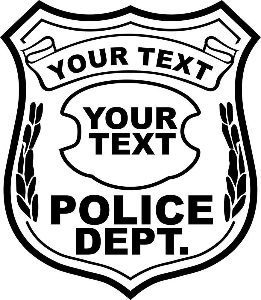Police Badge Images Use On Front Of Shirt Police Badge Police