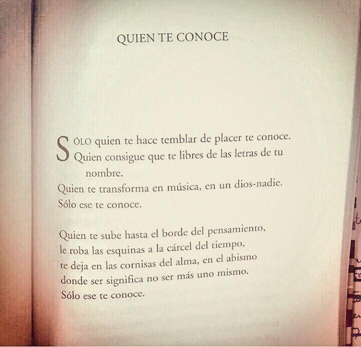 """""""Quien Te Conoce"""", del libro """"Hecho en falta (poesía reunida)"""", de Juan Bonilla."""