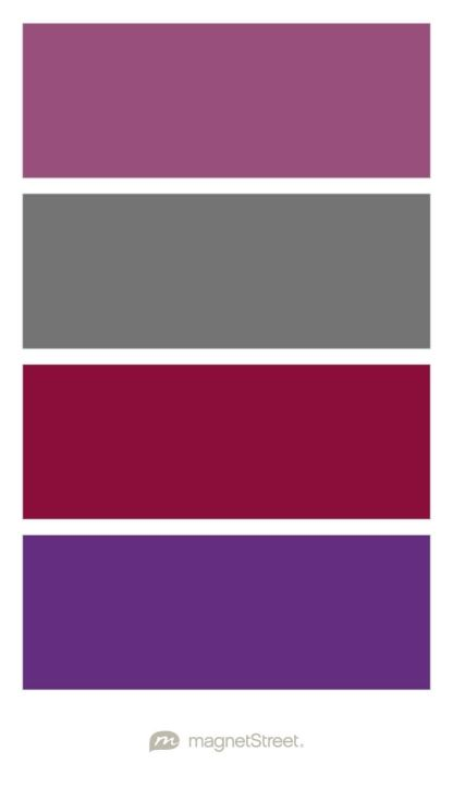 Mulberry Charcoal Burgundy And Plum Wedding Color Palette