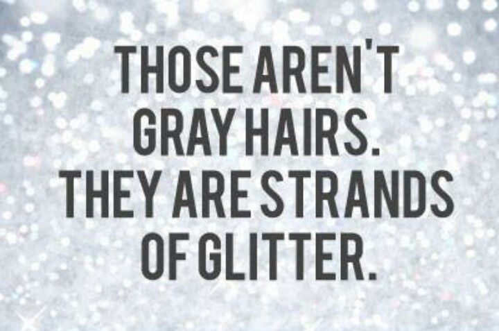 Grey hair sparkle