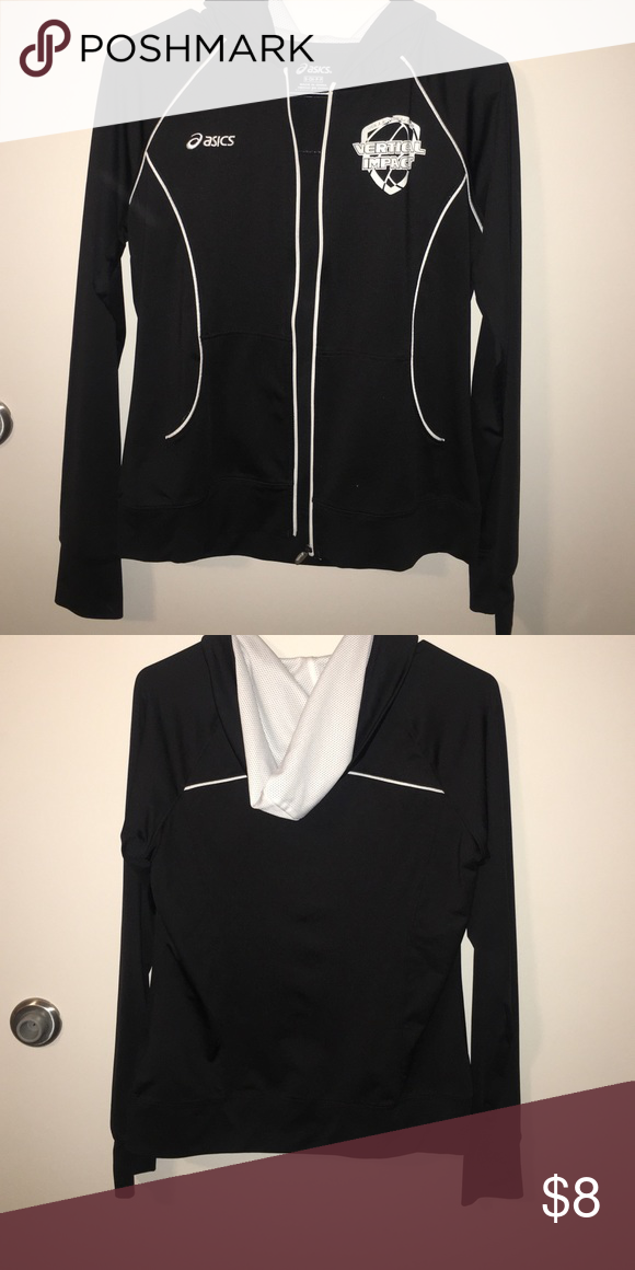 Volleyball Jacket Says Vertical Impact Volleyball Club On One Side Lightweight Jacket Worn But Good Condition Asics Volleyball Jacket Jackets Clothes Design