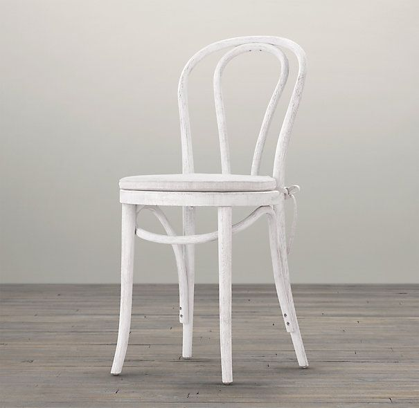 French Caf Stained Wood Chair Furniture Accessories Decor for
