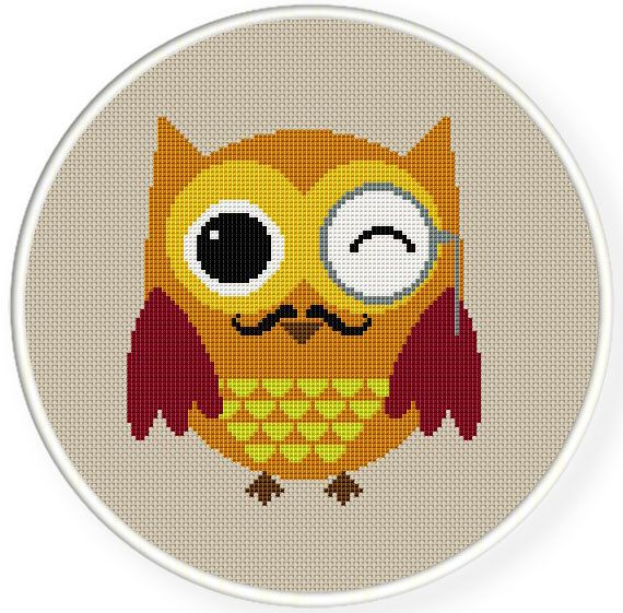 Instant Download,Free shipping,Cross stitch pattern, PDF,owl with ...