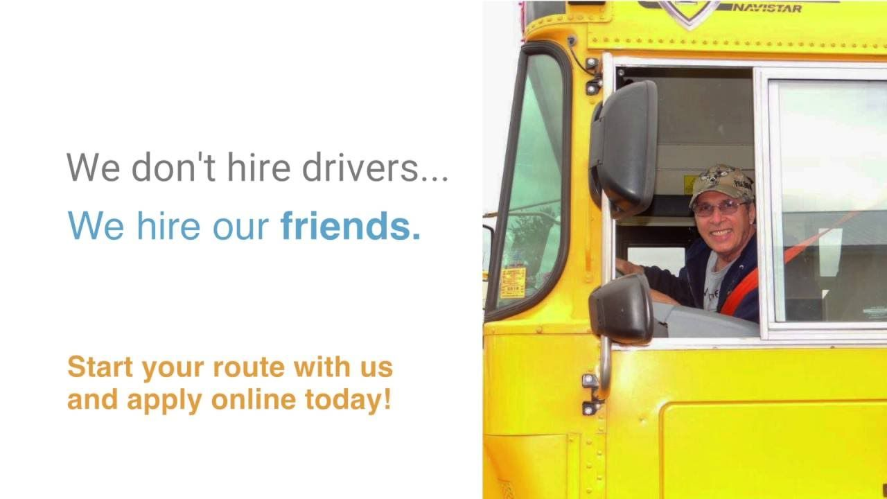 BusDrivers Wanted! Be the first warm smile kids will see