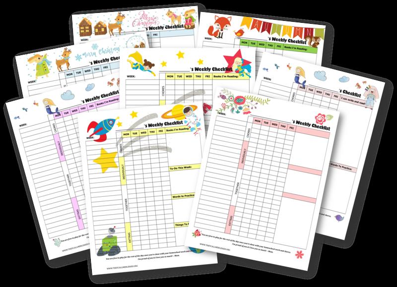 30 ways we homeschool ebook food journal printable homeschool and 30 ways we homeschool ebook chore checklistchecklist templatekids maxwellsz