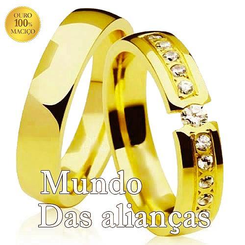 ca5a5a5a550 Luxo de aliança em ouro 18K
