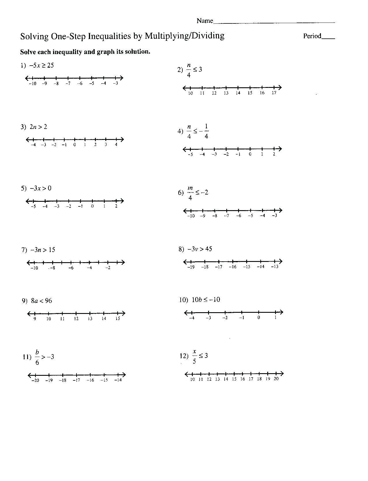 Absolute Value Inequalities Worksheet Answers Absolute
