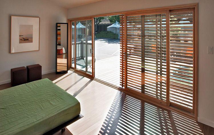 Sliding Patio Door In Wood Aluminium Loewen Baies Vitrees