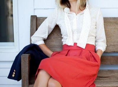 Ladylike red, white & blue