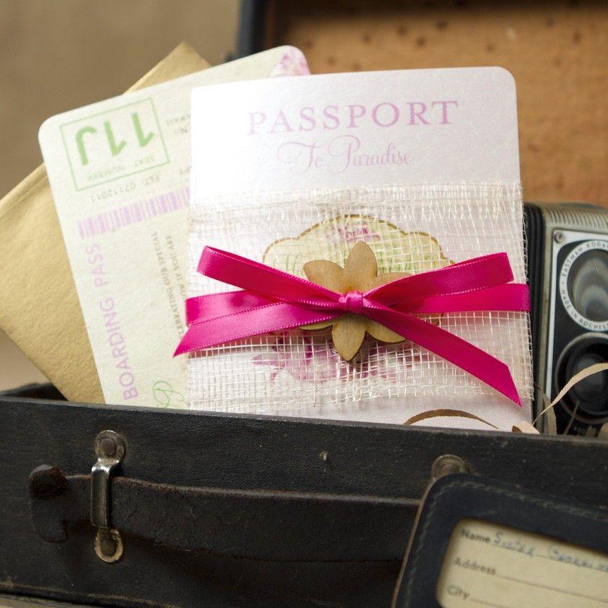 Wedding Invitations Hawaii: Hibiscus Passport Destination Wedding Invitation (Hawaii