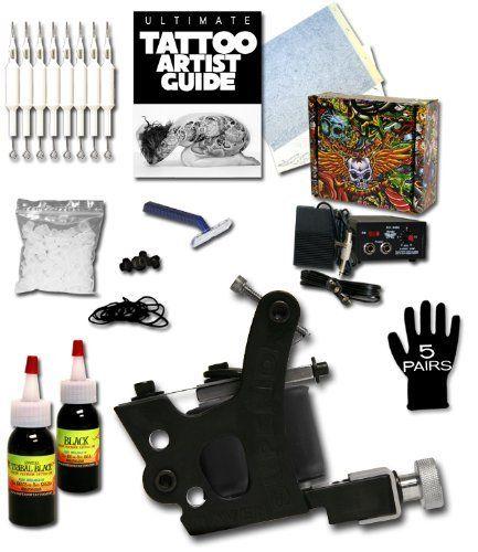 Superior Tattoo Equipment Value Tattoo Kit Includes Tattoo Artist Guide Black Ink Tattoo Machine And More Superior Tattoo Tattoo Kits Tattoo Equipment