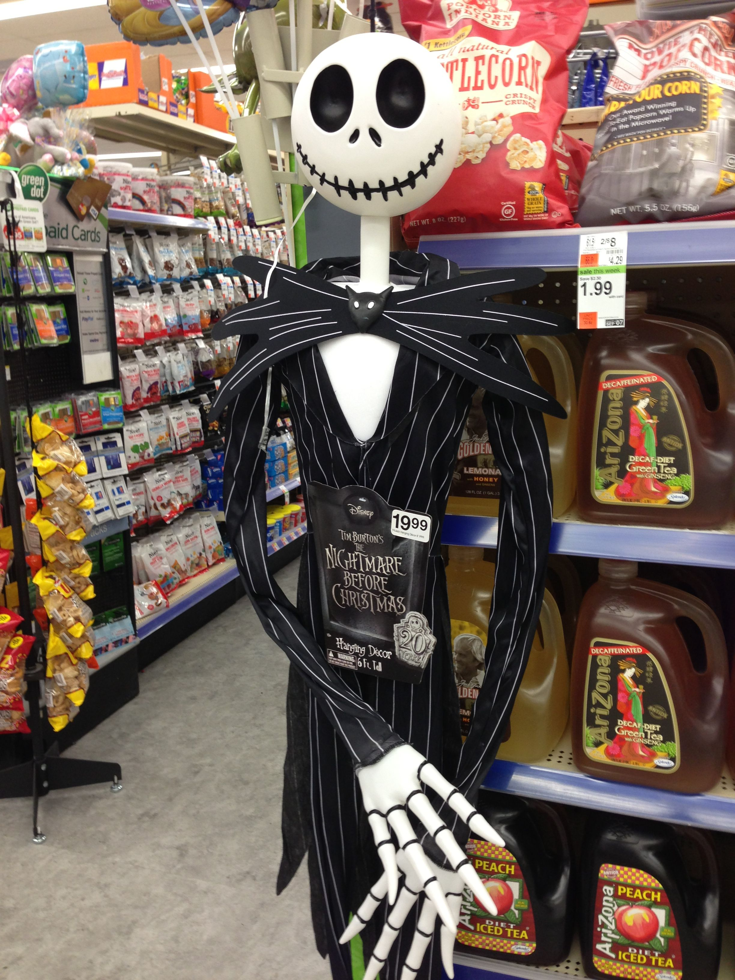 6 Ft Jack Skellington in Walgreens for $20 :D | Awesome things ...
