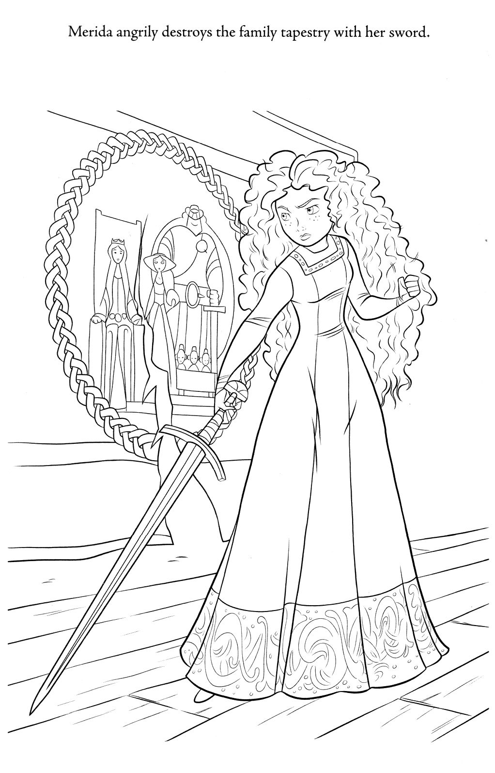 Disney princess coloring pages merida