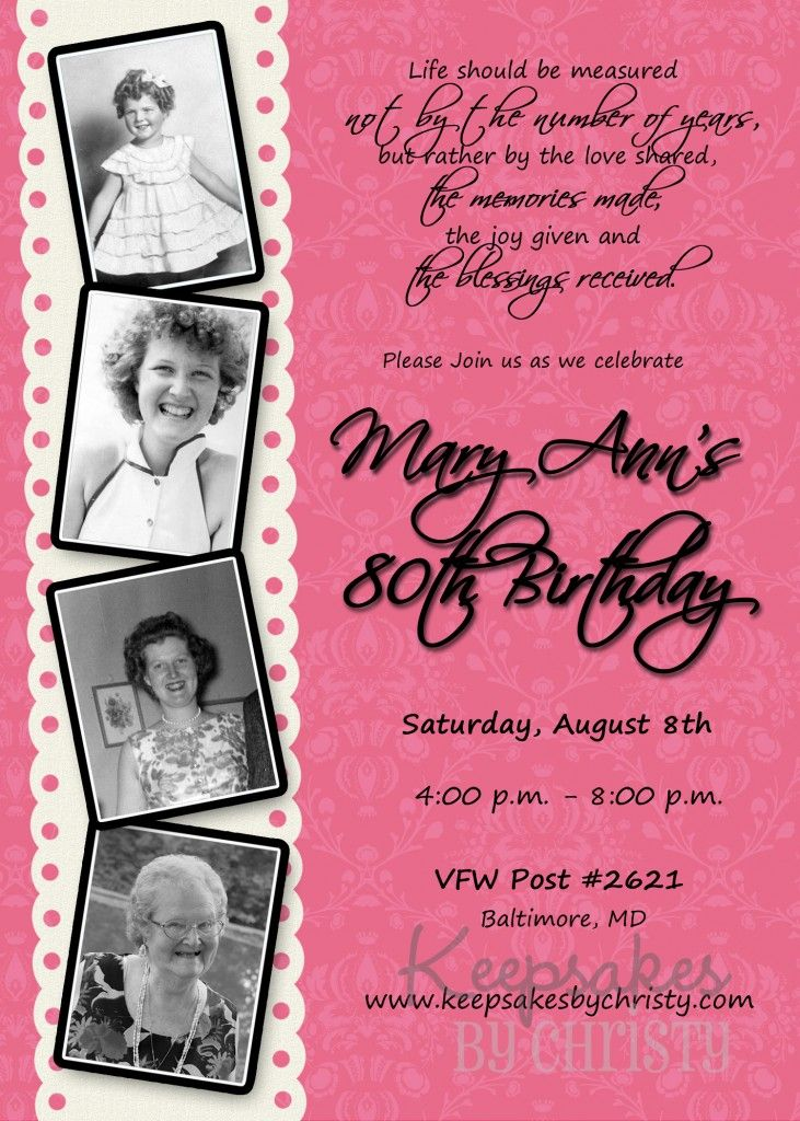 Milestone Adult Birthday u2026 Home and decorating Pinterest - birthday invitation for adults