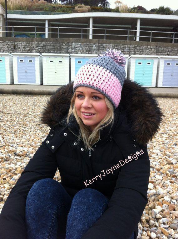 Bobble Hat Pattern By Kerry Jayne Designs Slouchy Hat Pattern Pom