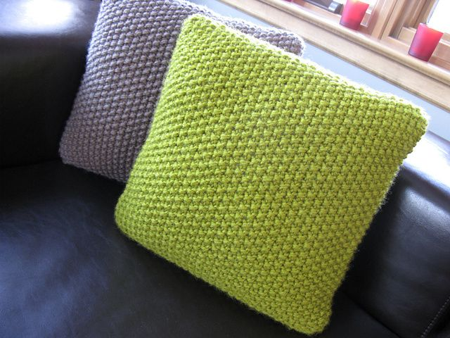 Knitting Ideas To Sell : Beautiful seed stitch pillows easy knit w great texture
