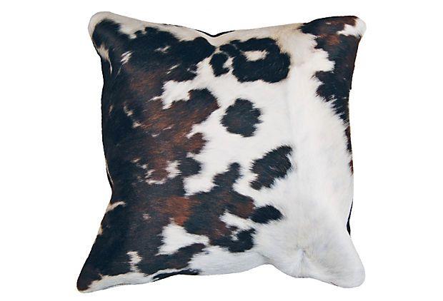 Torino 16x16 Hide Pillow, Multi on OneKingsLane.com