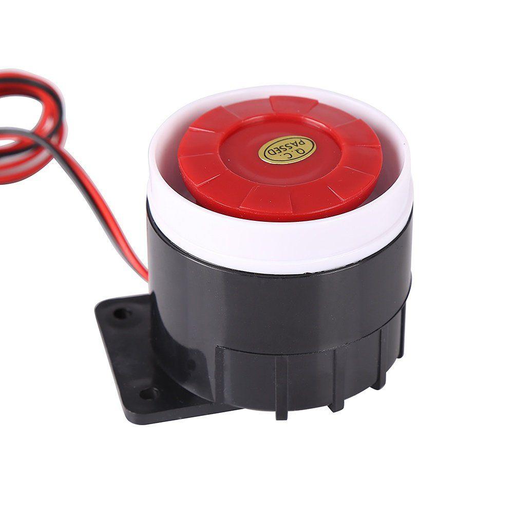Leezo Ear Piercing Indoor Siren Wired Mini Horn Siren Home Security Sound Alarm System 120db Dc 12v See This Fantastic Item Home Security Home Alarm Indoor