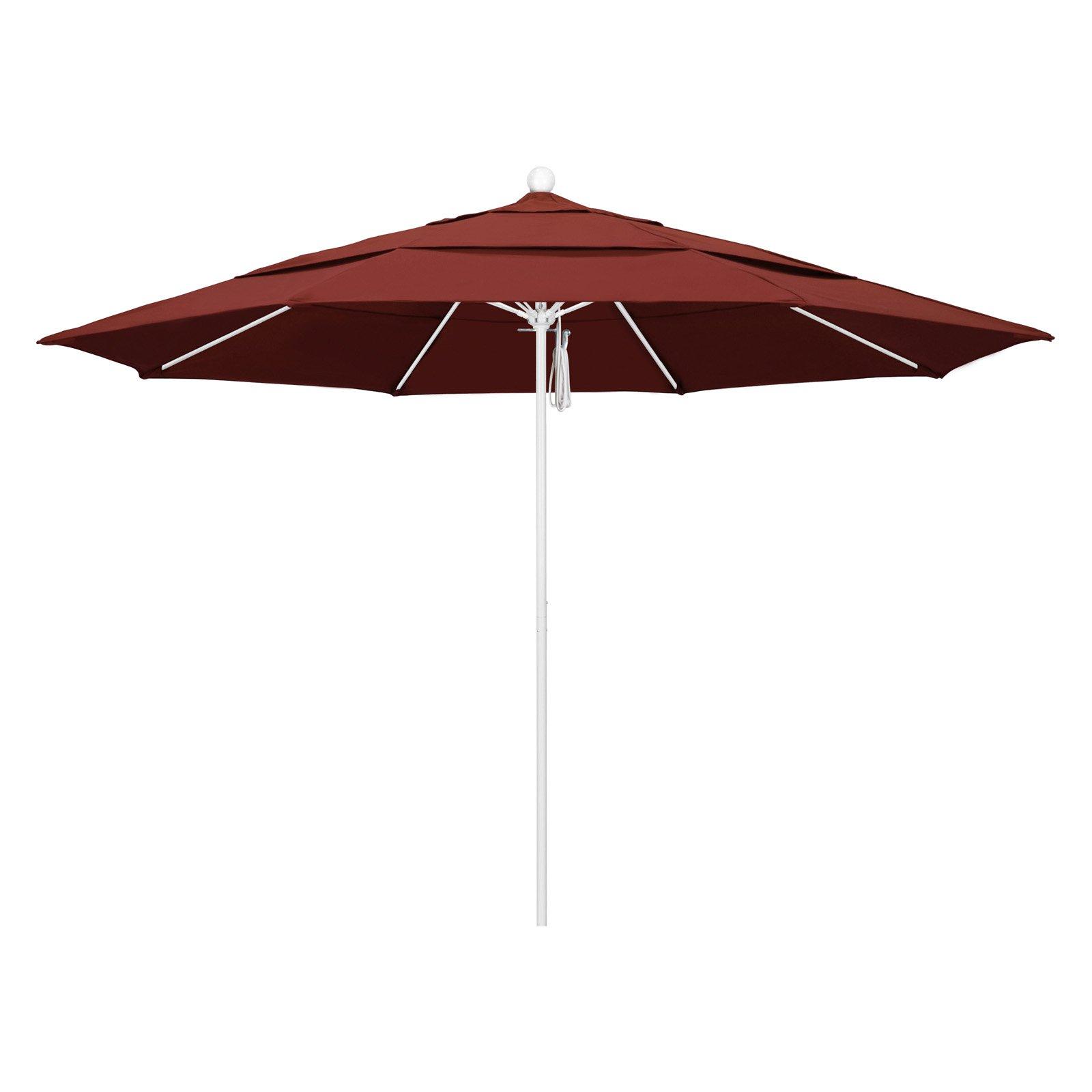 California Umbrella 11 Ft Sunbrella Fiberglass Double Vent Market