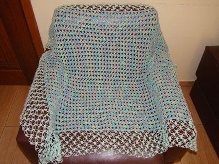 Manta Bebê em Crochê Algodão Doce - Trabalhos das Amigas - Aprendendo Croche
