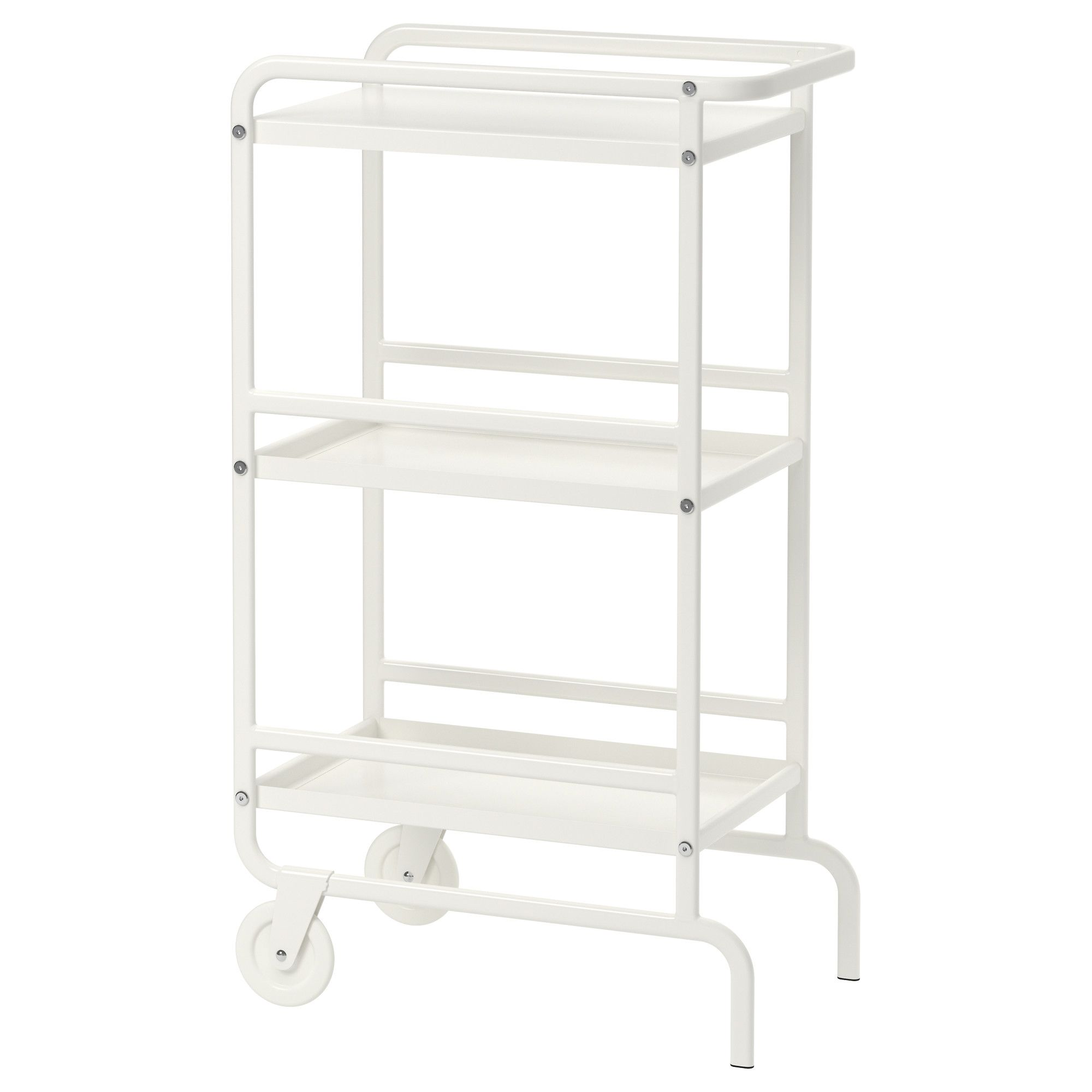 IKEA   SUNNERSTA, Utility Cart, Gives You Extra Storage In Your Kitchen.    Spray Paint The Handles Gold For A Bar Cart!