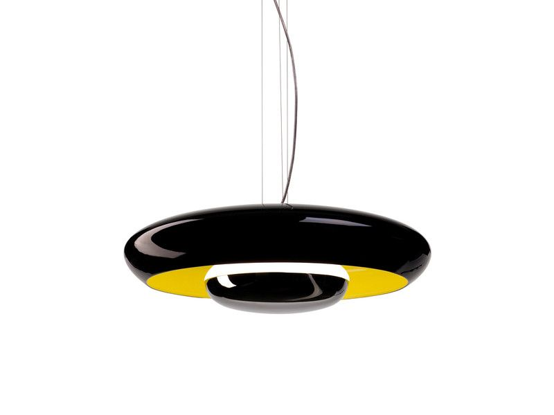 Established and sons established sons corona suspension light black yellow