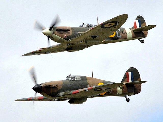 Spitfire Hawker Hurricane Comparison Fighter Jets Hawker Hurricane Aircraft