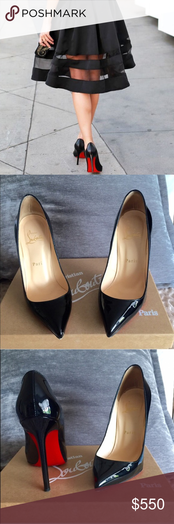 38974e6e8b83 Christian Louboutin Pigalle 120 Authentic Christian Louboutins verified by  Poshmark Concierge. Lightly worn