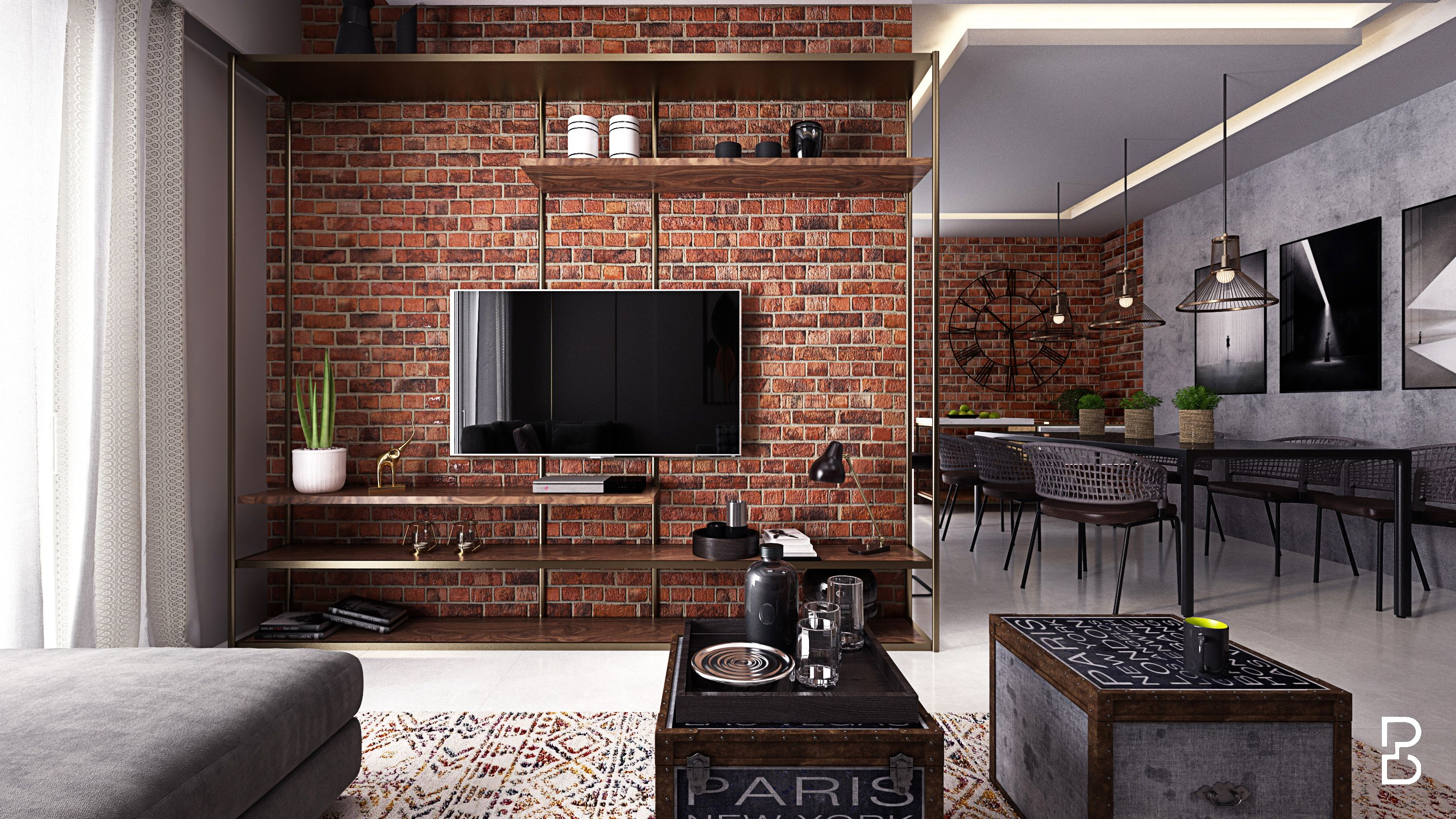 Industrial Living Raw And Rugged Brick Wall Living Room Exposed Brick Wall Living Room Brick Wall Interior Living Room