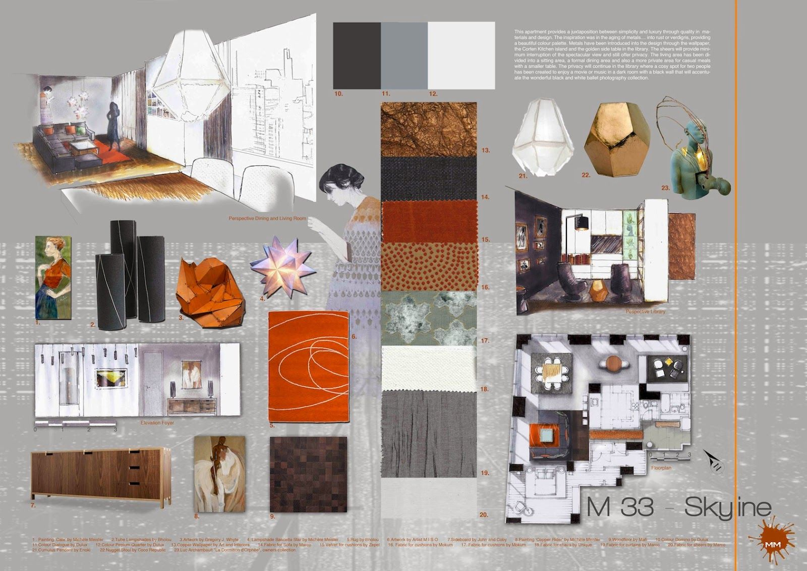 Mich le meister interior design portfolio presentation - Interior design presentation layout ...