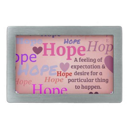 Hope in a Heart Belt Buckle - red gifts color style cyo diy personalize unique