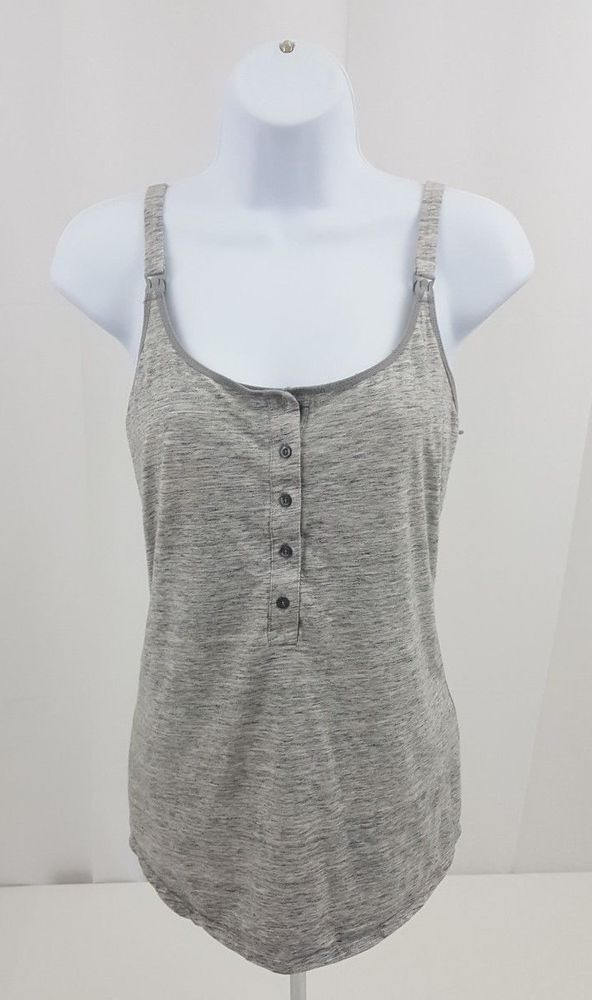 ddfb705eccfc47 Women's Gray Size Large Sleeveless Tank Cami Top L Breastfeeding Nursing # TommyHilfiger #TankCami #Casual