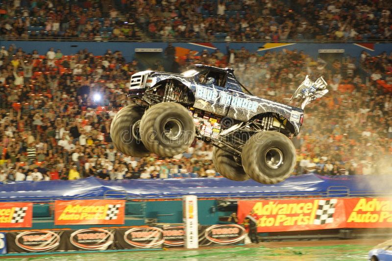 Monster Truck Speeding in the Arena