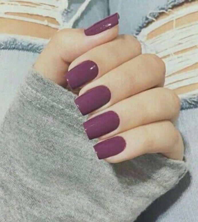 Fall plum color❤   Nails   Pinterest   Plum colour, Sns nails and ...