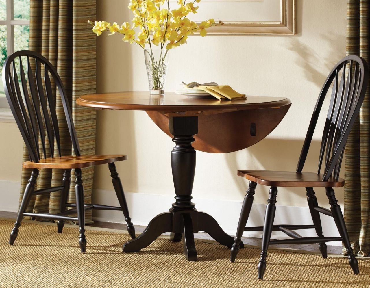 Small Round Drop Leaf Kitchen Table Home Office Desk Furniture Check More At Http Www Nik Traditional Dining Room Table Dining Table Chairs Drop Leaf Table
