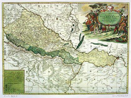 Geografska Karta Slavonije Srijema Bosne I Srbije Nurnberg