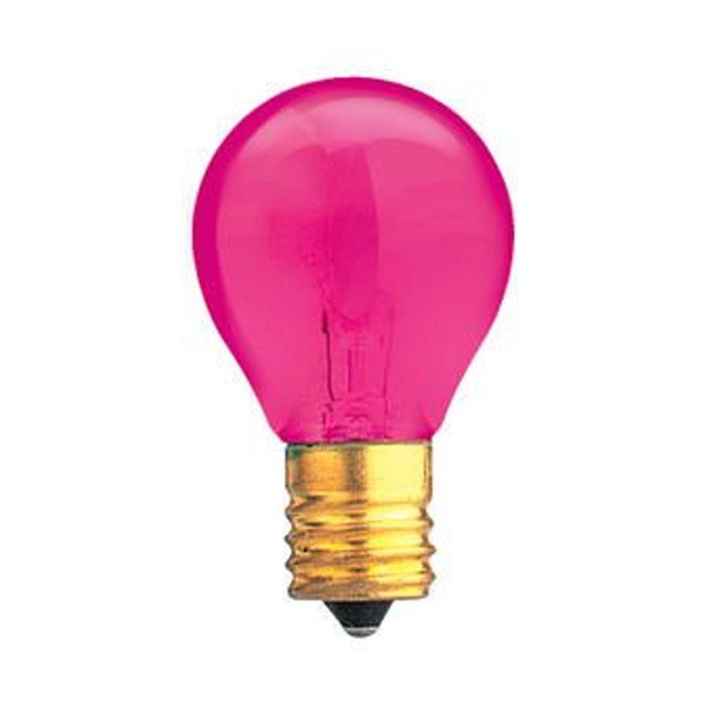 10w S11 Transparent Pink E17 130v Indicator Sign Night Light