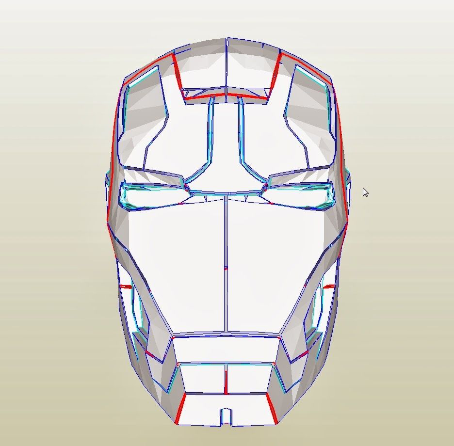 how to make iron man helmet with paper mache
