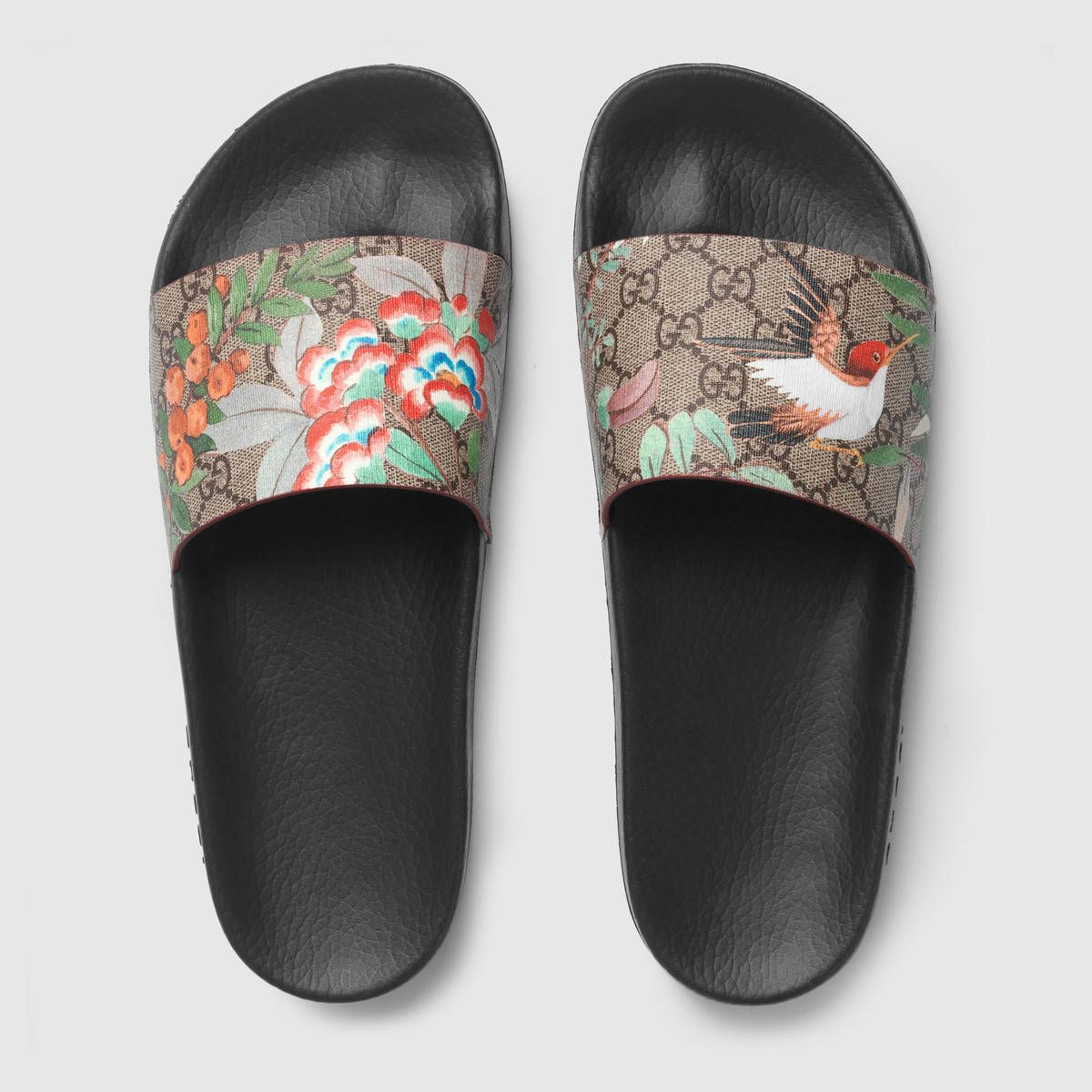 0efe83e35 Men's Gucci Tian slide sandal* | Mens | Shoes, Gucci shoes, Sandals