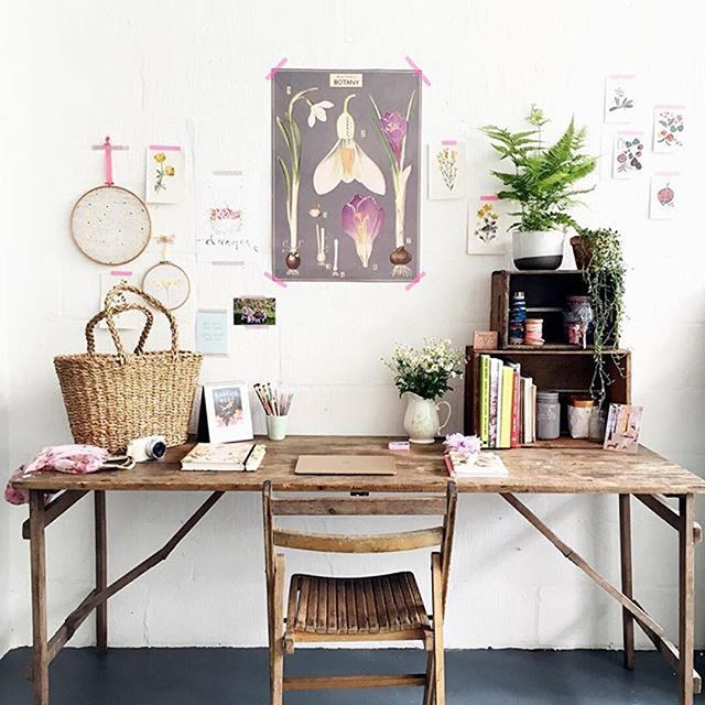 This Vintage Style Workspace Belongs To Emilyquinton A Photographer Writer Maker
