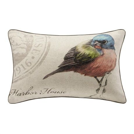 The Harbor House Emmaleen Bedding Collection creates a garden oasis within your bedroom. This oblong decorative pillow features typography print and a delicate hummingbird adding a special touch to your bedding.