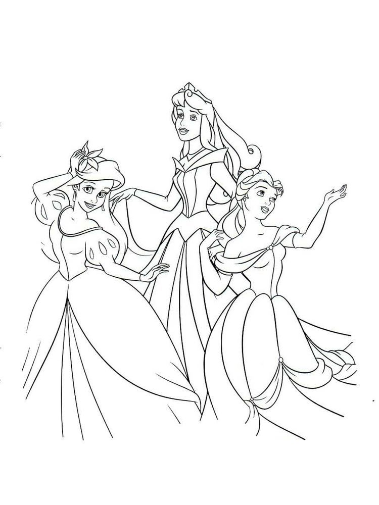 Disney Princesses Coloring Pages To Print Below Is A Collection Of Beautiful Princesses Color Princess Coloring Pages Disney Princess Colors Princess Coloring