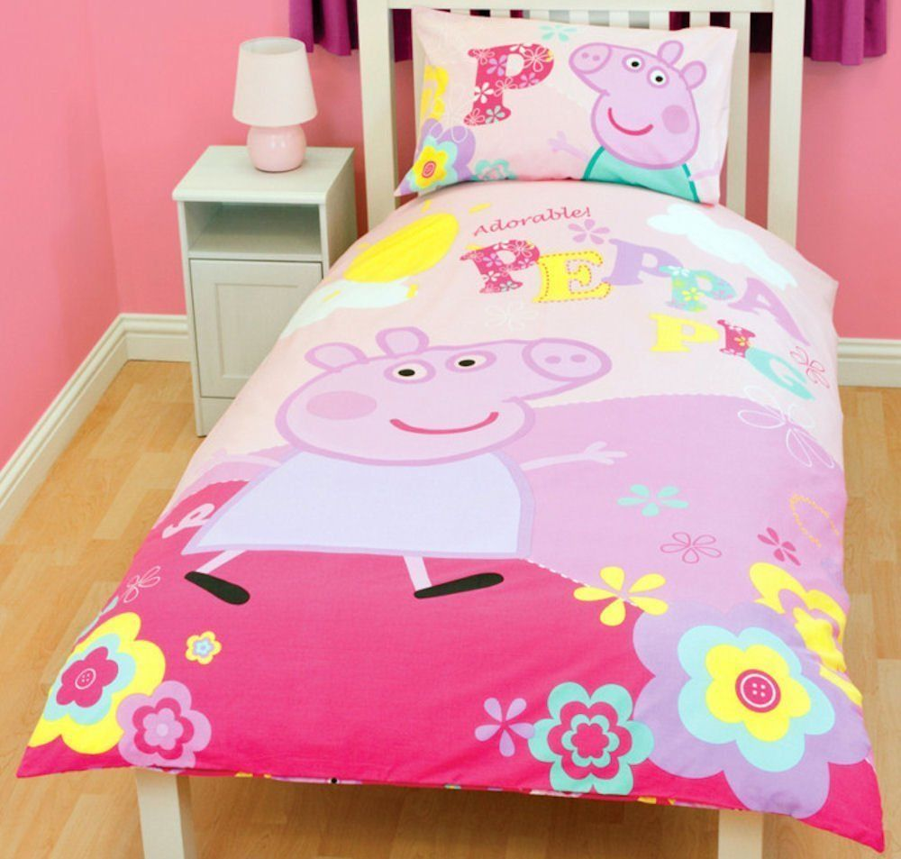 Character World Peppa Pig Adorable Single Rotary Duvet Set For  # Muebles De Peppa Pig