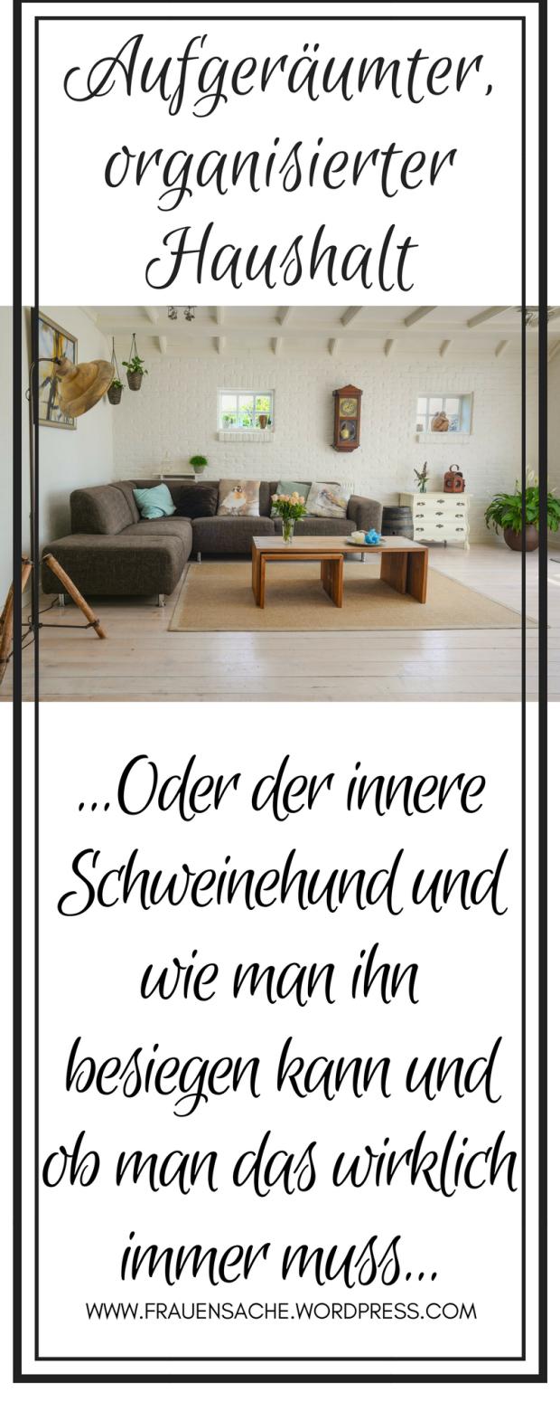 ber mehr ordnung im haushalt und den inneren schweinehund alleinerziehende m tter innerer. Black Bedroom Furniture Sets. Home Design Ideas